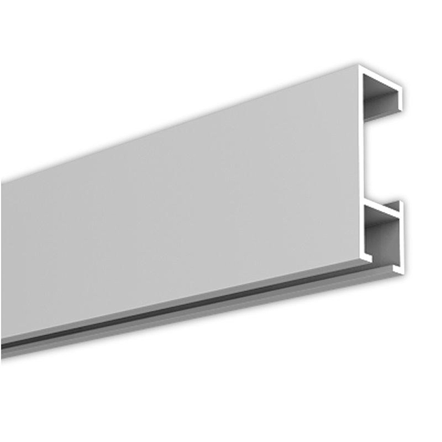 4m picture hanging kit 13,12 ft, 4,374 yards picture rails gallery rails with accessories in white or silver