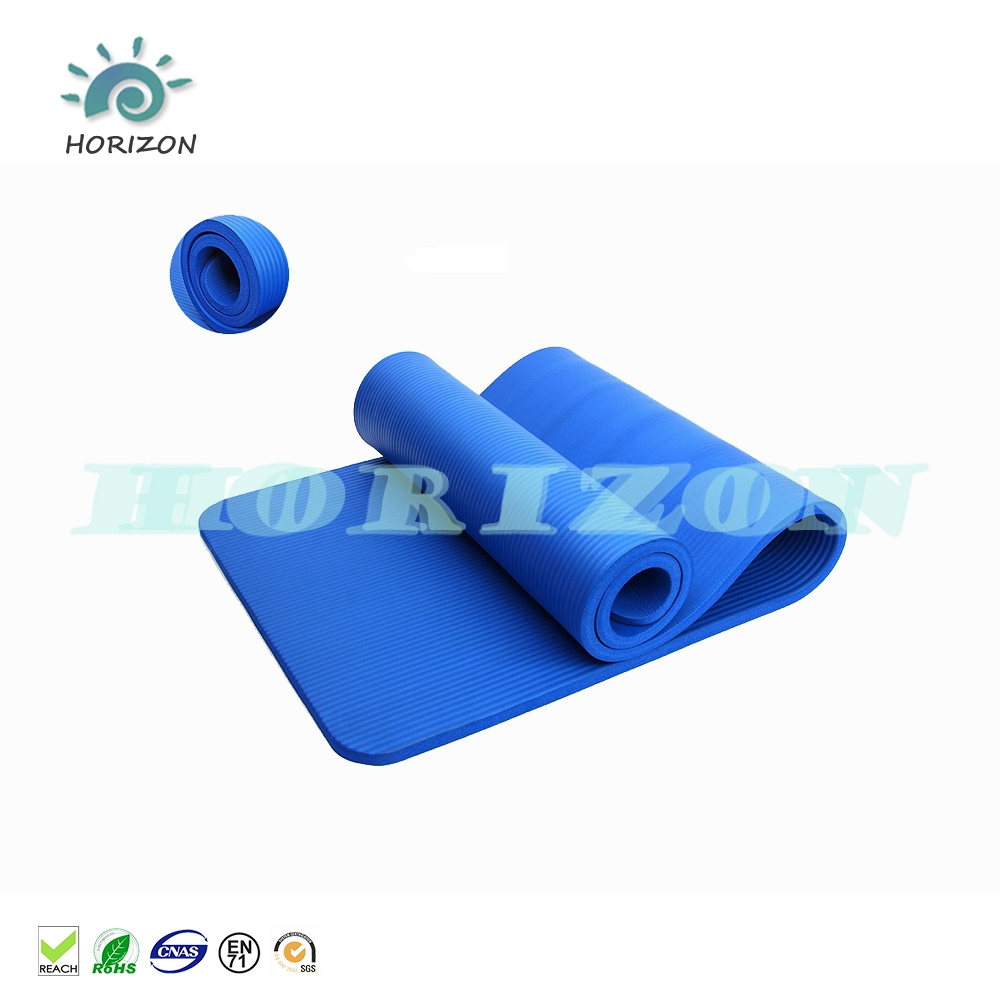 Sport NBR yoga mat met band of netto zak voor gym yoga training