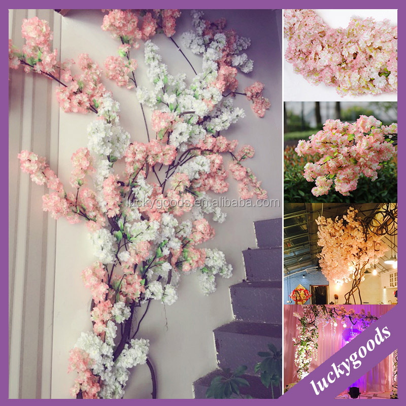 LF427 hot sale decoration fake cherry blossom branches for sale