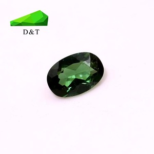 natural mozambique oval dark green tourmaline loose gemstone