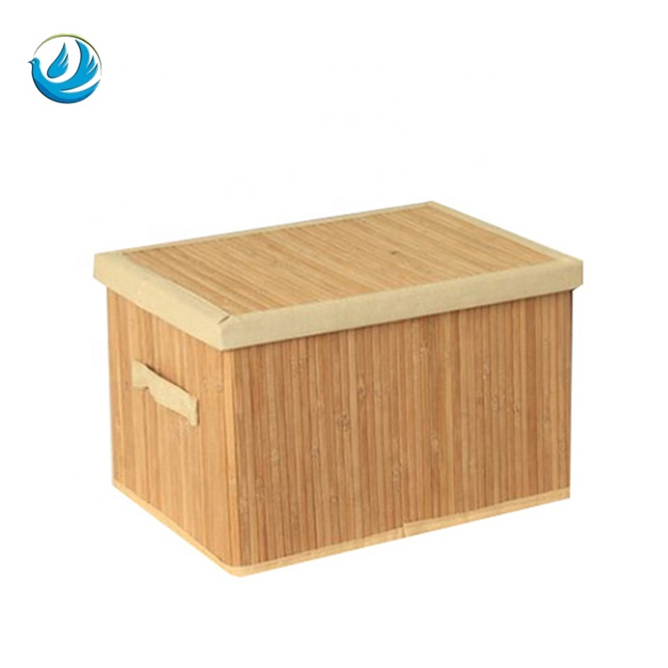 Promote Hot Collapsible Storage Box Living Room Bamboo Bins With Cover Product On