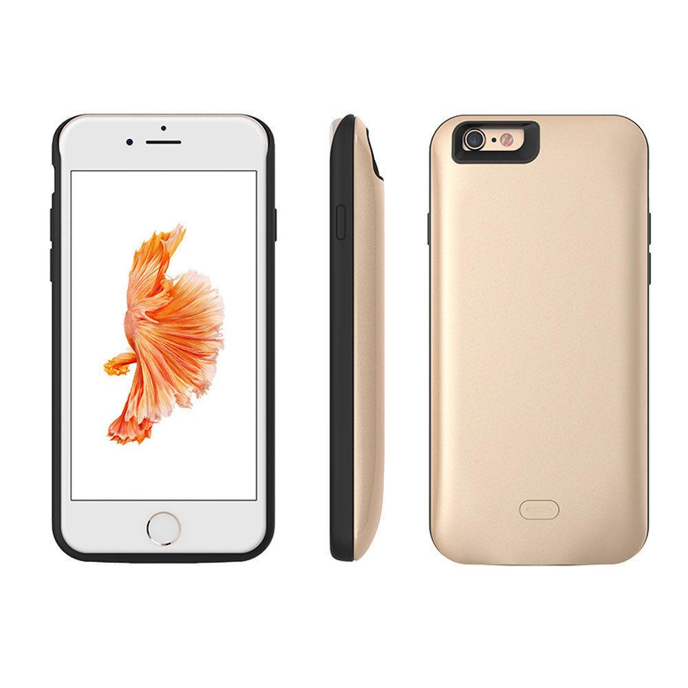 cf9cfb13f3c Alta capacidad Banco de la energía de silicona plástico duro batería Banco  teléfono funda para iPhone