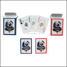 Customized 100% plastic advertising poker playing cards