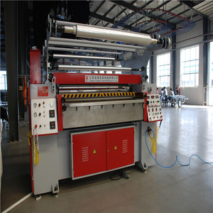 New ironing production making machine for leather film application