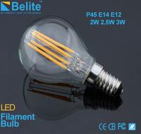 P45 E12 G45 filament 3w 4w 5w led lighting bulb for residential