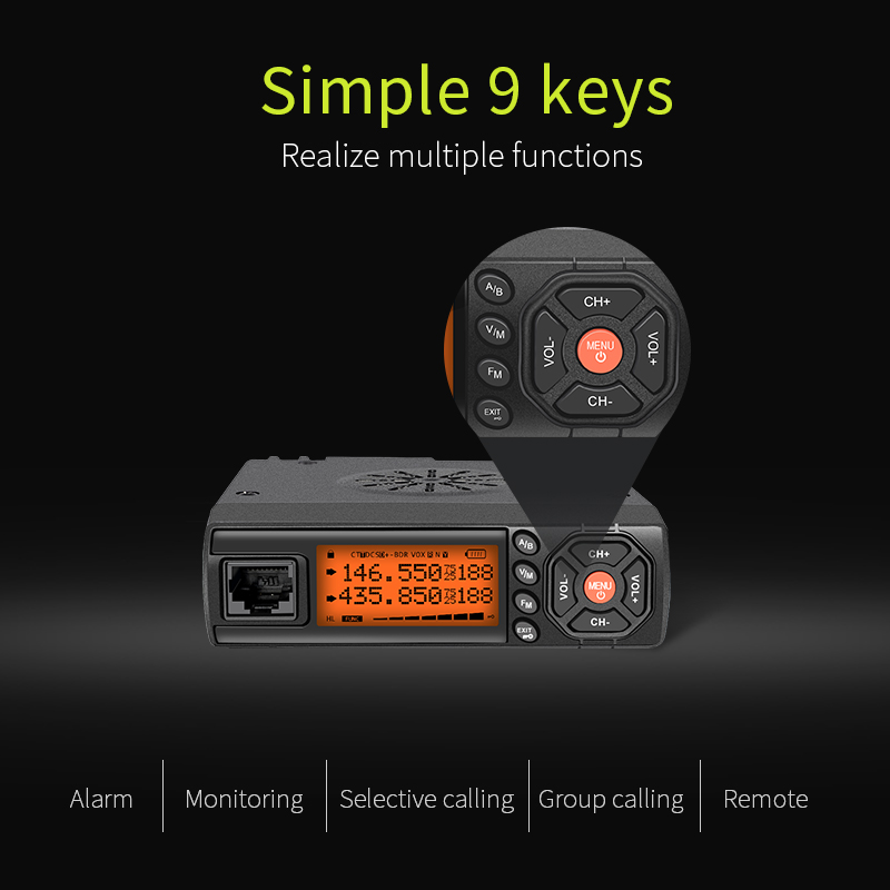 Cheap factory price 25W repeater dual band car uhf/vhf  mobile radio  radio ham  Z218