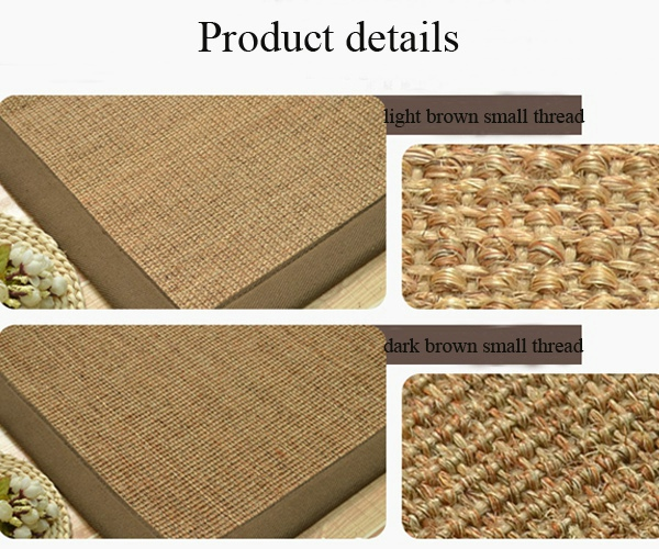Thread design sisal foor mat with border home floor carpet roll