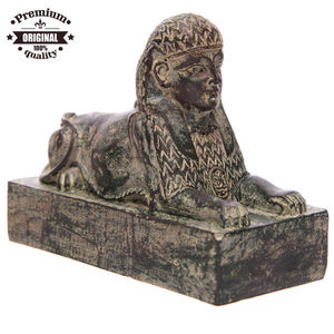 resin Egyptian crafts Weathered Black Egyptian Sphinx