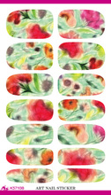 K5710B Water Transfer Foil Nails Sticker Colorful Lotus Design Nail Art Decals Manicure Decor Tools Fashion