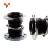 twin sphere rubber flexible connector double sphere bellow rubber expansion joints