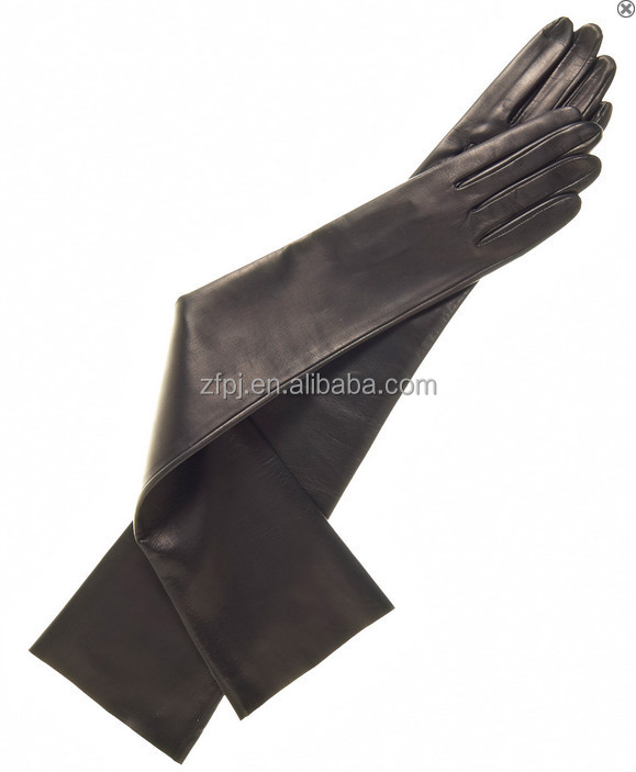 c01b5f08c Women's Long Elbow Length Winter Gloves with 1/2 Fingers (8 Button Length)
