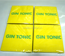 Solid color printed tissue paper, customized logo napkin
