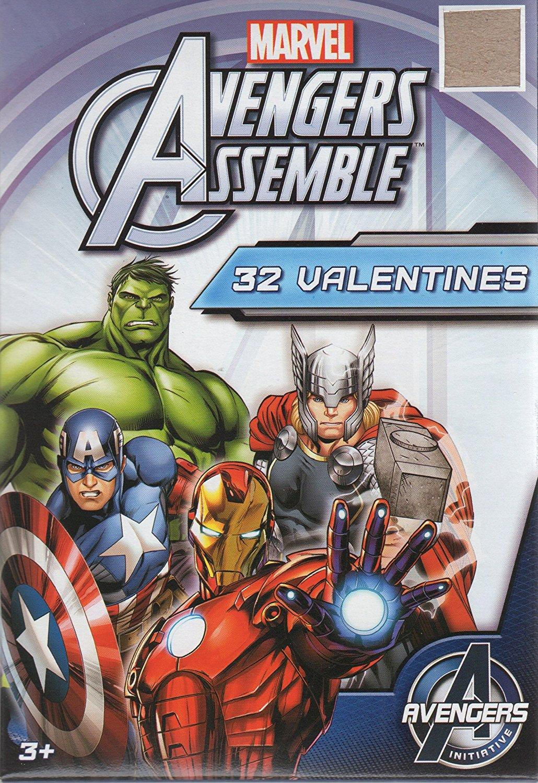 Marvel Avengers Assemble Valentine Cards for Kids (26748)