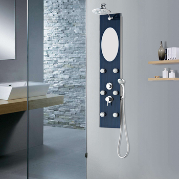 Minimalist custom luxury brass bathroom hotel shower set japan diverter valve mermaid shower panel For Your House - Elegant bathroom shower set Model