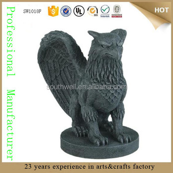 Gryphon Figurine Lion And Eagle King Of Creatures Divine Griffin Cement   Like Large Gargoyle Garden