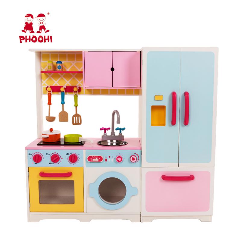 Kids Play Kitchen Game Set Pretend Children Wooden Big Kitchen Toy With  Sound - Buy Big Kitchen Toy,Kitchen Toy With Sound,Wooden Big Kitchen  Product ...