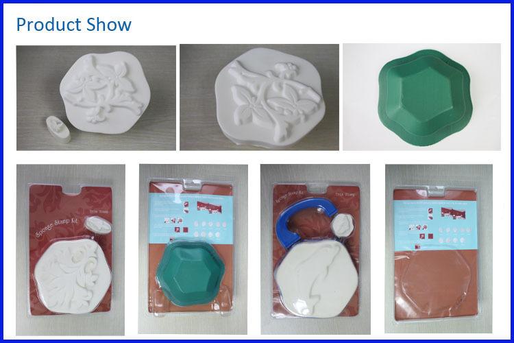 use wall decration different design paint tool sponge stamp kit