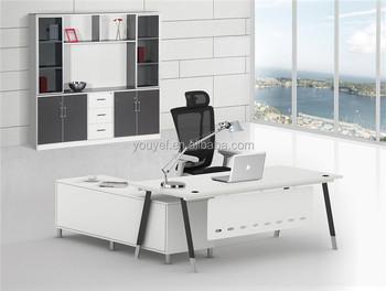Dernier design blanc Élégant de bureau de haute technologie À