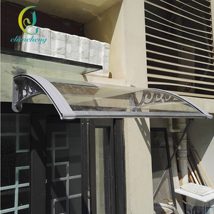CC Fireproof Customizable PC Clear Plastic Awnings Used For Sale