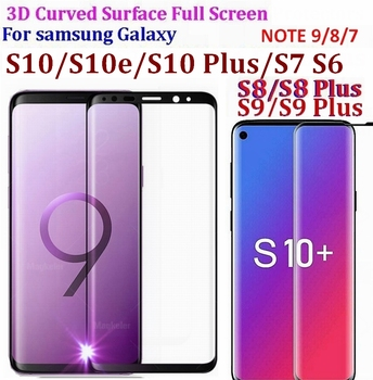 9H 3D 5D 9D Curved Surface Full Screen Tempered Glass Protector Film For Samsung Galaxy S9 S8 S7 S6 Edge plus Note 8 7
