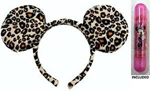 Disney Parks Leopard Print Minnie Mouse Headband - Disney Parks Exclusive & Limited Availability + Double Sided Minnie Stamp Included