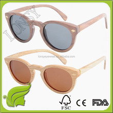 Italian Designed Fashionable vintage solid wood women sunglasses LS3026