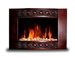 Diva Tranquility 1500W Wood Wall Mount Electric Fireplace Space Heater