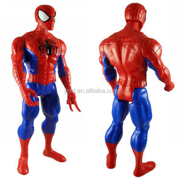 Manufacture injection molding plastic superhero character spiderman action figure