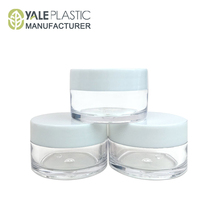 5g white cosmetic jar with lid empty clear small round plastic container