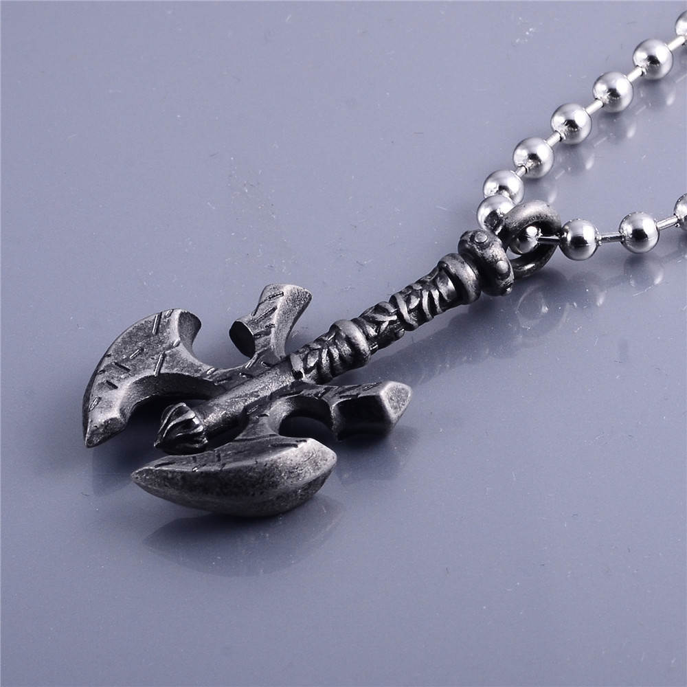 Wholesale Jewelry Stainless Steel Metal Axe Pendant Engrave Silver