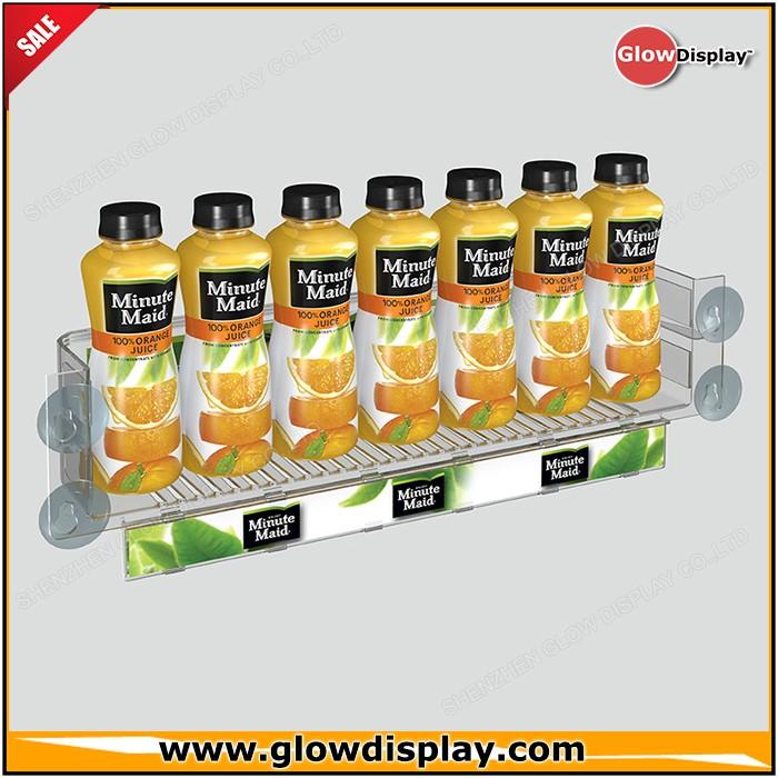 Glowdisplay Acrylic Cooler Door Condiment Rack Suction