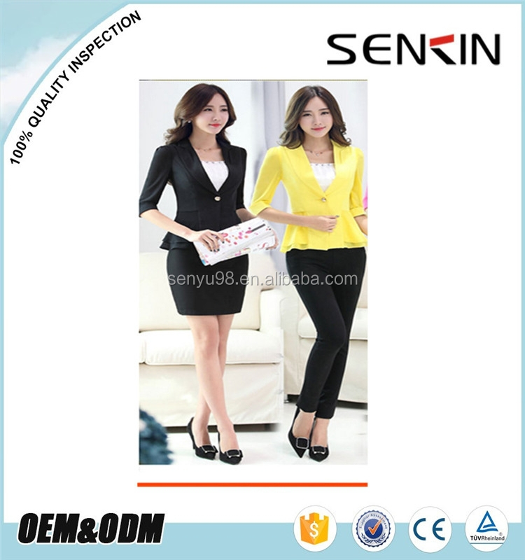 elegant lady offfice uniform formal ladies uniform oem by clothing manufacturer