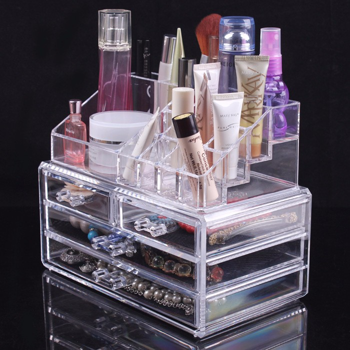 Fashion Acrylic Lipstick Display Shelving Stand Cosmetic Holder
