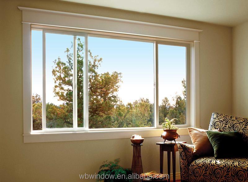 Plastic/vinyl Material Frame Horizontal Sliding Glass Windows For ...