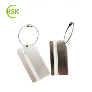 5%-10% discount off Genuine Leather Travel Luggage Tags Travel Suitcase Bag Labels For Promotion