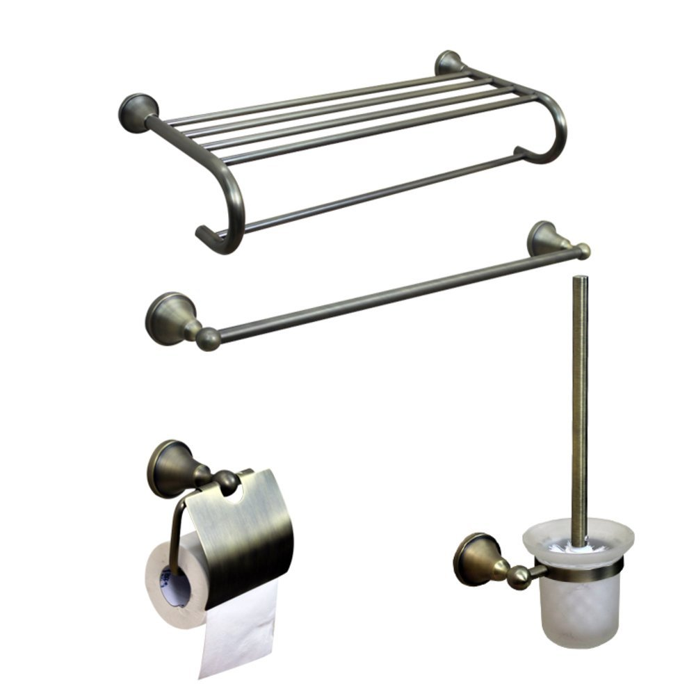 ZZB All Copper Bathroom Accessories/Bronze Towel Rack/Towel Bar/Toilet Paper Holder/Hook/Bathroom Accessories Set-B