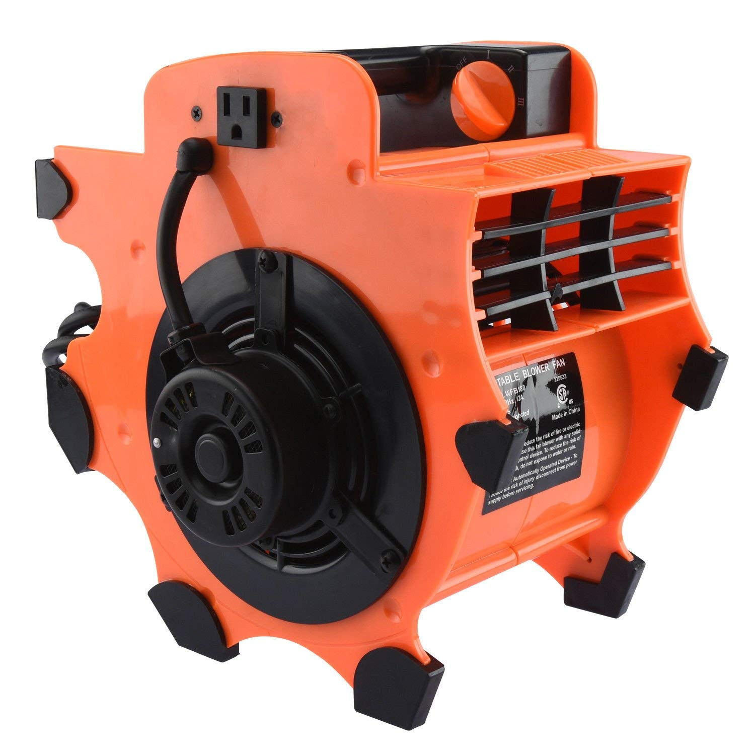 ESKALEX Industrial Air Mover | Fan Blower Floor Carpet Dryer Portable Lightweight And This Multi-Purpose Fan Blower is engineered for high volume air movement. Can be used to cool, ventilate