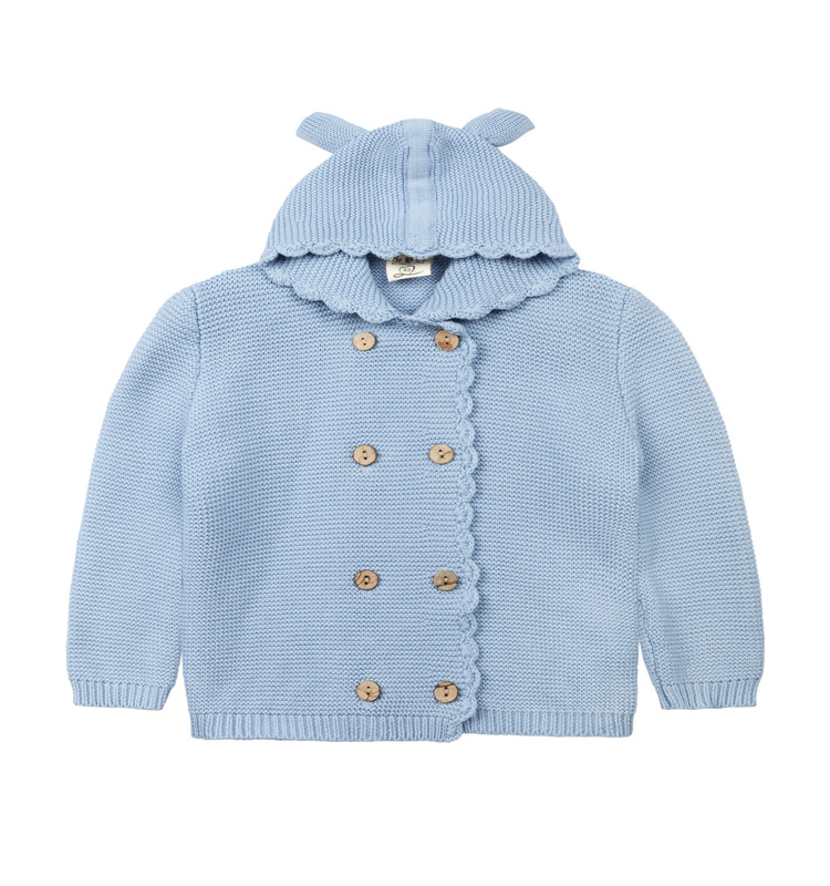 Hot European Style Autumn and Winter Children's Coat of Sweater with Cute hooded and double-breasted Children's Wear