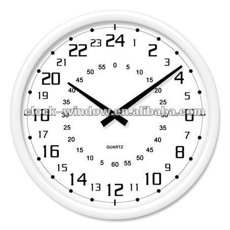 orologio analogico 24 ore