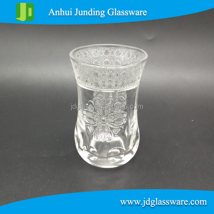Hot Selling Embossed Shot Glass Wholesale Bullet Shot Glass