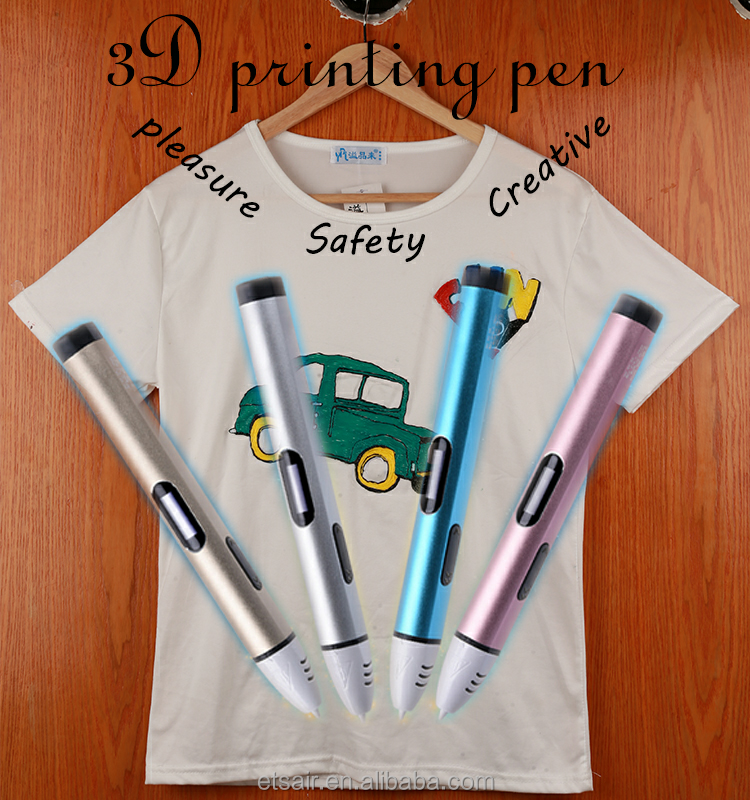 Innovative 3 Dimension Printing Pen with Low Temperature for Children's 3D Drawing and Graffiti