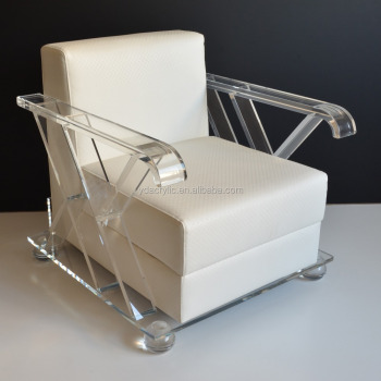 2017 Modern design of clear acrylic living room chair from shenzhen