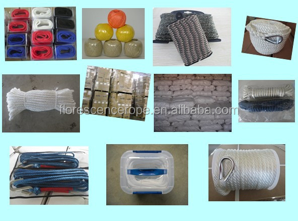 Factory supply 8 strand ship used rope floating polypropylene rope 72 mm