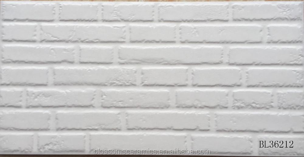 Ceramic Rustic White Brick Stone Exterior Wall Tile 300x600mm