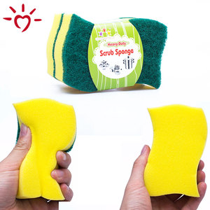 OEM cheap sponge scouring pad kitchen cleaning cheap sponge scourer