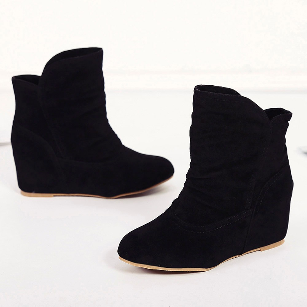 262be4521 Fashion Winter Boots Woman Increase Within Boot Booties Wedge ...