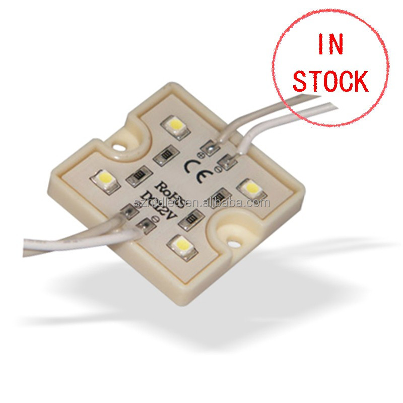 Square Steel led module Light 4 pcs 3528 smd led module IP66 Single Color
