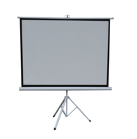 Tripod projector screen with adjustable stand with high quality matte white fabric
