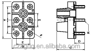 Y100 132 electric motor terminal block buy electric for Electric motor terminal blocks