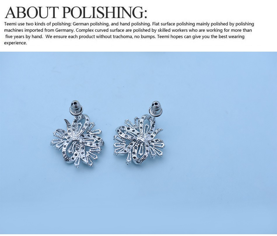LUOTEEMI Luxury Design Bling CZ Statement Stud Earrings For Women Vintage Fashion Jewelry